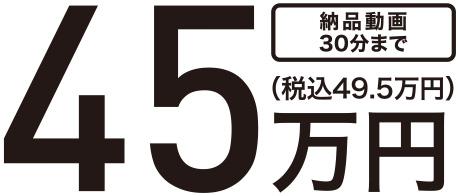 納品動画30分まで45万円(税込49.5万円)